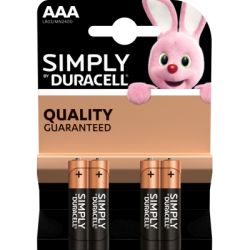 Duracell Batterie Simply AAA/Micro, B4