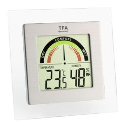 TFA Thermo-Hygrometer digital silber/transparent, K1
